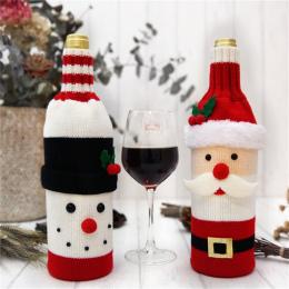 Hoomall 1 pc Domu Dinner Party Tabeli Dekory Wina Pokrywa Dekoracje Na Boże Narodzenie Santa Claus Snowman Prezent Navidad Xmas
