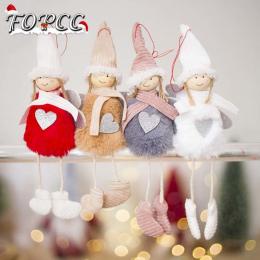 Nowy Śliczne Anioł Plush Doll Christmas Dekoracji Zawieszka Kreatywne Ozdoby Choinkowe Świąteczne Dekoracje Dla Domu Navidad