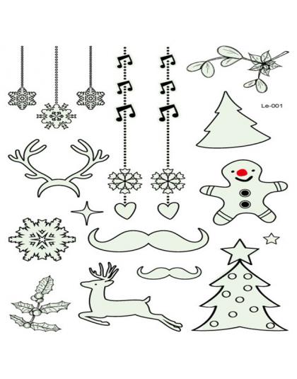 Strona Dekoracji 1 Pc Luminous Tymczasowy Tatuaż Naklejki Boże Narodzenie Carnival Party Nowy Rok Dekoracje Navidad Dekoracje Na