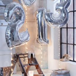 Rysunek Balon Foliowe 40 cali Lat Helem Ballon Liczba Szczęśliwy 18 Urodziny Powietrza Piłkę Balon Strona Dekoracji Balony Globo