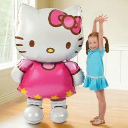 116*68 cm Duże Rozmiary Hello Kitty Cat Balon Foliowy/80*48 cm Średni Kreskówek Ślubu Urodziny strona Dekoracji Nadmuchiwane Air