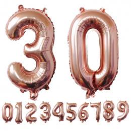 40 cali Rose Złoty Numer Balony Foliowe Duża Cyfra Helem Balony dekoracje ślubne Birthday Party Supplies Baby Shower
