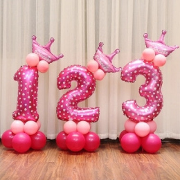 16 cal Rysunek Cyfrowy Numer Numer Folia Balony Balon Balon Do Dekoracji Z Okazji Urodzin