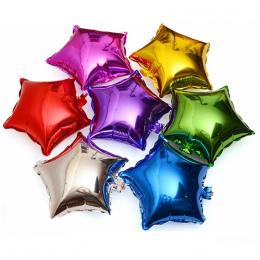 10 sztuk 10 cal pięcioramienna gwiazda folia Aluminiowa balon baby shower dzieci urodziny wesele decor akcesoria balony powietrz