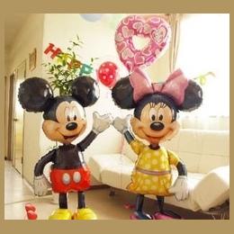112 cm Giant Mickey Minnie Mouse Balon Cartoon Folia Birthday Party Balon Airwalker Balony dla Dzieci Zabawki Dla Dzieci Party