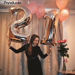"""40 """"rose złota folia Numer balon birthday party dekoracje dzieci orbs Balony Powietrza globos rysunek balony szczęśliwy urodziny"""
