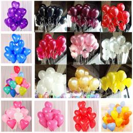 10 sztuk Czarne Lateksowe Balony 10 cal Latex Hel Balony Nadmuchiwane Dekoracje Ślubne Kulki Powietrza Szczęśliwy Birthday Party
