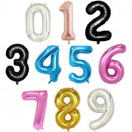 40 cal rose Złoto Srebro różowy niebieski czarny big size Numer Folia Helem Balony Urodzinowe Uroczystości dekoracji duża globe