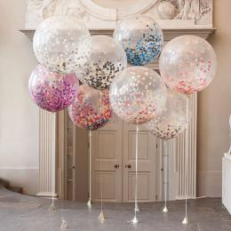 "5 sztuk/partia 12 ""Konfetti Balony Jasne Balloons Party Wedding Party Decoration Kid Dzieci Birthday Party Supplies Powietrza Ba"