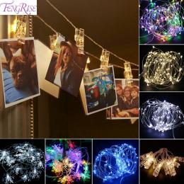 FENGRISE 10 pc Zdjęcia Klip Światła Led Dekoracje Ślubne Boże Narodzenie Dekoracje Świąteczne Uroczystości Ślubne Wydarzenia Par
