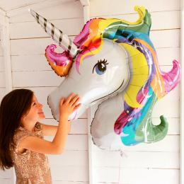 1 pc baby shower urodziny jednorożec dekoracji dzieci balon party favor decor rainbow zwierząt balonów ślub nadmuchiwane unicorn