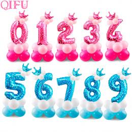 QIFU 17 sztuk Folia Balony Urodziny Powietrza Helem Numer Balon Figury Szczęśliwy Urodziny Dekoracje Dzieci Balony Urodziny Balo