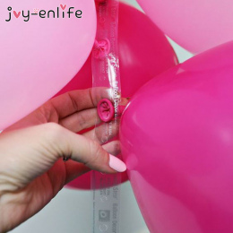 JOY-ENLIFE 5 m Plastikowe Balon Łańcucha 410 Otwory Gumowe PCV Wedding Party Urodziny Balony Tło Decor Balon Łańcuch Arch Decor