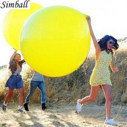 1 pc 36 Cal 90 cm Big Wyczyść Lateksowe Balony Dekoracje Ślubne Nadmuchiwane Helem Balonu Kulki Powietrza Z Okazji Urodzin Stron