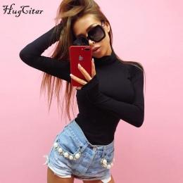 Hugcitar bawełny z długim rękawem wysoka neck skinny body 2017 jesień zima kobiety czarny szary stałe sexy ciało garnitur