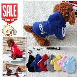 Nowy Jesień Zima Pet Products Dog Odzież Zwierzęta Płaszcze Miękkie Bawełniane Szczeniaka Ubrania Dla Psów Ubrania Dla Psów 7 ko