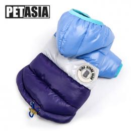 Najlepsza Sprzedaż Zima Pies Ubrania Ciepły Dół Kurtki Wodoodporna Płaszcz S-XXL Bluzy dla Chihuahua Małe Średnie Psy Puppy PETA