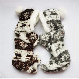 Nowy Jesień I Zima Śniegu Miękki Polar Pies Ubrania Pet Dog Dress Wzór Coral Velvet Jeleń Boże Narodzenie Puppy Coat cztery Ha