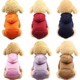 Pies Bluzy Pet Odzież Dla Psów Płaszcz Kurtki Bawełniane Ubrania Dla Psów Puppy Zwierzęta Kombinezony Dla Psów Kostium Kot Odzie