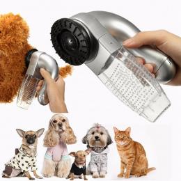 Elektryczne Cat Dog Pet Próżniowe Futro Cleaner Usuwania Włosów Puppy Trymer Kot Grooming Narzędzie Zwierzęta Psy Urody Pet Dog