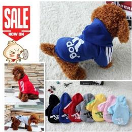 2018 Nowy Jesień Zima Pet Products Dog Odzież Zwierzęta Płaszcze Miękkie bawełna Dog Bluzy Odzież Dla Psów Puppy 7 kolory PD212