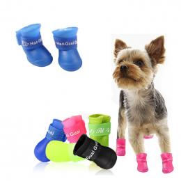 Lato Pet Yorkie Pies Buty Wodoodporna Deszcz Buty dla Małych Psów Ras Pet Cat Dog Skarpetki Gumowe Silikon Pies buty