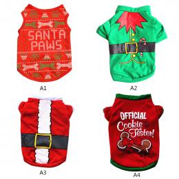 XS/S/M/L Zwierzęcia Domowego Psa Ubrania Boże Narodzenie Kostium Kreskówka Ubrania Dla mały Pies Tkaniny Kostium Sukienka Xmas o