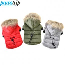 Pawstrip 5 Rozmiar Pet Dog Coat Winter Warm Mały Pies Ubrania Dla Chihuahua Miękkie Futro Kaptur Puppy Kurtka Odzież