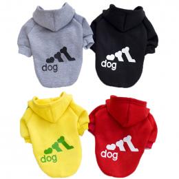 Mody Dla Psów Ubrania Dla Psów Kapturem Bawełna Puppy Pet Ubrania XS-2XL Pies Kombinezony Dla Psów Materiały Ropa Perro Buldog F