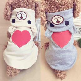 Ciepłe Pies Ubrania Dla Małych Psów Bawełniana Odzież Płaszcz Bluzy dla Chihuahua Zwierzęta Psy Zimowe Ubrania Piżamy Miłość Nie
