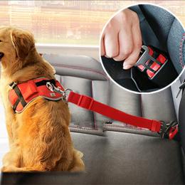 Pojazd Samochodowy Pet Dog Seat Belt Puppy Pasów Bezpieczeństwa Samochodów Szelki Ołów Klip Pies Bezpieczeństwa Dostaw Dźwignia