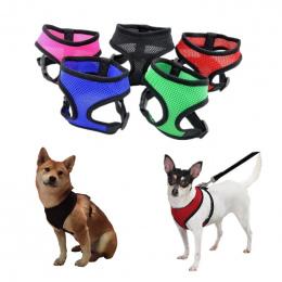 1 pc Regulowane Miękkie Oddychające Szelki Dla Psa Nylon Mesh Vest Szelki dla Psów Puppy Collar Cat Pet Klatki Piersiowej Psa Pa