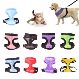 1 pc Oddychające Szelki dla Małych Psów Puppy Kot Kamizelka Szelki Nylon Pitbull Kołnierz Szyi Pasek Na Klatce Piersiowej Psa Sm