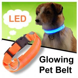 Pies LED Obroża Dla Kota Nylonowa Noc Bezpieczeństwo Anti-lost Light Up Miga Luminous Naszyjnik USB Obroże Dla Psów Puppy Pet ma
