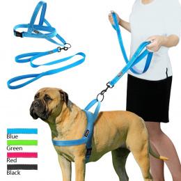 Nie Ciągnąć Odblaskowe Pies Uprząż Leash Set Zwierzęta Kamizelka Ołowiu Dla Małych Meduim Duży Psy Idealne do Codziennego Szkole