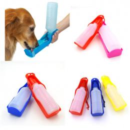 250 ml Składany Pet Dog Butelek Wody Pitnej Podróży Ręcznych Puppy Psy Wycisnąć Butelka Wody Dozownik Opuść Wody pan