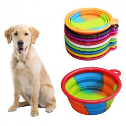 Hoomall Składana Miska Strój Przenośne Podróży Miska Pies Podajnik Wody Żywności Pojemnik Silikonowe Małe Mudium Dog Pet Akcesor