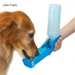 ISHOWTIENDA Nowy Składany Zwierzęta Pies Kot Butelka Do Picia Wody Pitnej 250 ml Dozownik Podróż Karmienie Miski Losowy Kolor #