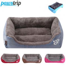 S-3XL 9 Kolory Paw Pet Sofa Łóżka Psa Wodoodporne Dno Miękkie Ciepły Polar Cat Bed Dom Petshop Dropshipping cama perro