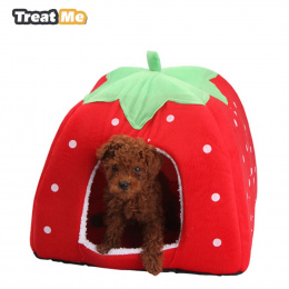 Traktować Mnie, Moda Miękkie Dog House, Truskawka Kształt, Piękny Pies Łóżko, Ciepłe Sztruks Sprytny Kot Dom, domowych Łóżko Dla