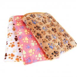 3 kolor Śliczne Floral Pet Cat Snu Ciepłe Paw Print Pies Kot Puppy Polar Miękkie Pies Koc Pet Dog Łóżka mata dla psów 40X60 cm