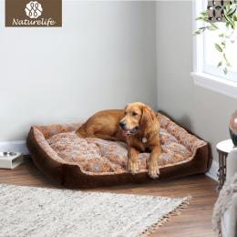 Ciepłe Sztruks Wyściełane Pies Łóżko Wodoodporna Zmywalny Pet House Mat Perros Miękka Sofa Hodowla Psów Koty dom Dla dużych psów