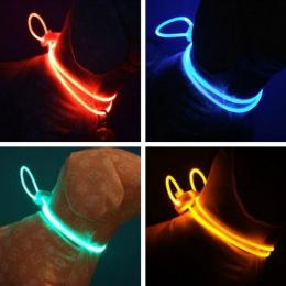 Wysokiej Jakości 1 Sztuk multi-color LED Pet Obroża Regulowana Noc bezpieczeństwo Pet Collar Luminous Light Up Pet Dog Jasny Koł