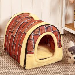 Hot!!! Pies Dom Kennel Nest Z Mata Składana Zwierzęta Legowisko Kot Bed Legowisko Dom Dla Małych i Średnich Psów Podróży Torba P