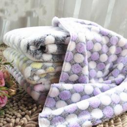 Miękkie Flanelowe Pet Dog Koc Kropki Drukowane Oddychające Pies Kot Bed Mat Ciepłe Pet Spania Poduszki Pokrywa Dla Pet Dog kot P