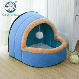 5 Kolory Zwierzęta Pies Kot Bed Składany Szczeniak Dom Z Zabawki piłka Ciepłe Miękkie Poduszki Zwierzę Pies Hodowla Kotów Zamek