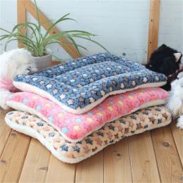 Zima Ciepły Pies Łóżko Miękki Polar Pet Koc Żwirek Puppy Snu Mata Piękny Materac Poduszki dla Małych I Dużych psy 5 Rozmiar
