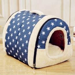 Multifuctional Dog House Nest Z Maty Składany Pet Dog Bed kot Bed Dom Dla Małych i Średnich Psów Podróży Zwierzę Łóżko torba