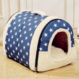 Pet Dog House Nest Z Mata Składana Zwierzęta Legowisko Kot Bed Dom Dla Małych i Średnich Psów Podróży Budy Dla Kotów Domowych pr