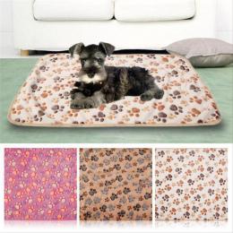 Zwierzęta Mat Miękkie Ciepły Polar Paw Print Projekt Pet Puppy Dog Cat Mat Koc Łóżko Sofa Pet Ciepłe Produkt Poduszki pokrywa Rę